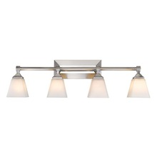 Golden Canada 2112-BA4 PW-OP - Gentry 3 Light Bath Vanity in Pewter with Opal Glass