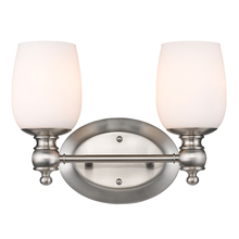 Golden Canada 2115-BA2 PW-OP - Constance 2 Light Bath Vanity in Pewter with Opal Glass