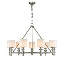Golden Canada 2116-9 PW-OP - Beckford PW 9 Light Chandelier in Pewter with Opal Glass