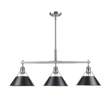 Golden Canada 3306-LP PW-BLK - Orwell PW Linear Pendant in Pewter with Black Shade