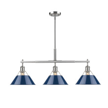 Golden Canada 3306-LP PW-NVY - Orwell PW Linear Pendant in Pewter with Navy Blue Shade