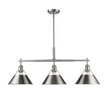 Golden Canada 3306-LP PW-PW - Orwell PW Linear Pendant in Pewter with Pewter Shade
