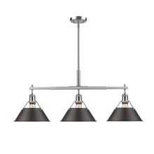 Golden Canada 3306-LP PW-RBZ - Orwell PW Linear Pendant in Pewter with Rubbed Bronze Shade