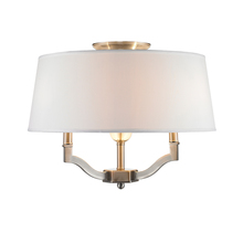Golden Canada 3500-SF PW-CWH - Waverly Semi-Flush (Convertible) in Pewter with Classic White Shade