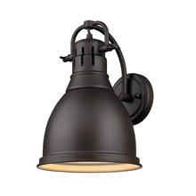Golden Canada 3602-1W RBZ-RBZ - Duncan 1 Light Wall Sconce in Rubbed Bronze with a Rubbed Bronze Shade