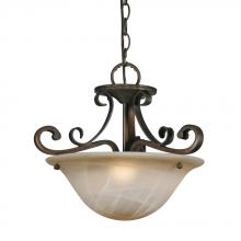 Golden Canada 3890-SF GB - Meridian Semi-Flush (Convertible) in Golden Bronze with Antique Marbled Glass