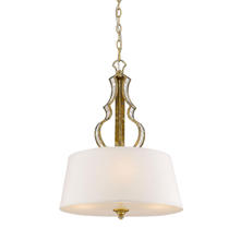 Golden Canada 5140-3P LG - Hayworth 3 Light Pendant in Luxe Gold with Austere White Shade