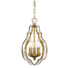 Golden Canada 5140-M3 LG - Hayworth 3 Light Pendant in Luxe Gold