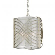 Golden Canada 5516-3P WG-SHR - Zara 3 Light Pendant in White Gold