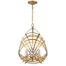 Golden Canada 5717-4P RGD - Signet 4 Light Pendant in Royal Gold