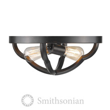 Golden Canada 5926-FM ABZ - Smithsonian Saxon Flush Mount in Aged Bronze