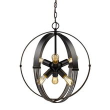 Golden Canada 7001-6P ABZ - Carter 6 Light Pendant in Aged Bronze