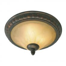 Golden Canada 7116-17 LC - Mayfair Flush Mount in Leather Crackle with Crème Brulee Glass