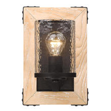 Golden Canada 7804-1W RB-CWG - Eastwood 1 Light Wall Sconce in Rustic Bronze
