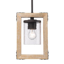 Golden Canada 7804-M1L RB-CWG - Eastwood Mini Pendant in Rustic Bronze