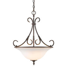 Golden Canada 8606-3P RBZ-OP - Homestead 3 Light Pendant in Rubbed Bronze with Opal Glass