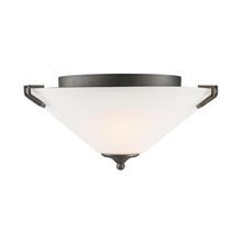 Golden Canada 9363-FM GMT-OP - Presilla Flush Mount in Gunmetal Bronze with Opal Glass