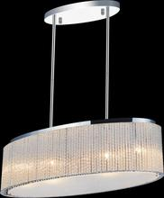 Crystal World 5561P26C-O Clear - 5 Light Chrome Drum Shade Chandelier from our Colbert collection