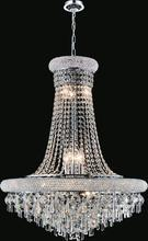 Crystal World 8040P20C - 9 Light Chrome Down Chandelier from our Kingdom collection