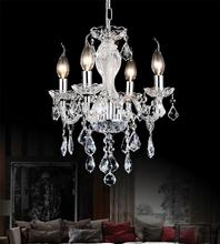Crystal World 8275P14C-4 (Clear) - 4 Light Chrome Up Chandelier from our Princeton collection