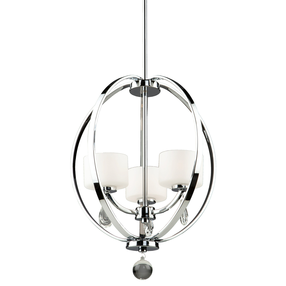 Piccadilly 3 Light  Chrome Chandelier