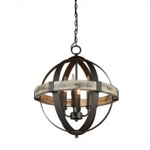 Artcraft AC10015 - Castello 4 Light  Black Chandelier