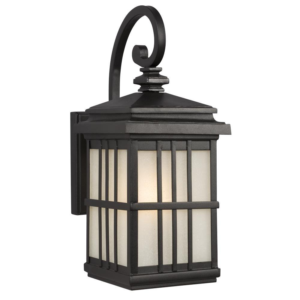Wall Lantern Replacement Glass : 1-Light Outdoor Wall Mount Lantern - Black with Frosted Seeded Glass : 320540BK The Electrical ...