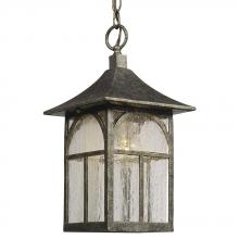 Galaxy Lighting 311374AS - Outdoor Lantern - Antique Silver with Clear Seeded Glass