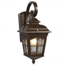 Galaxy Lighting 320286BZ - 1-Light Outdoor Wall Mount Lantern - Bronze with Clear Water Glass