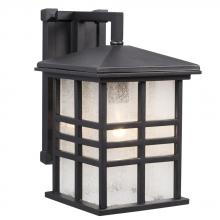 Galaxy Lighting 320396BK - 1-Light Outdoor Wall Mount Lantern - Black with Clear Seeded Glass